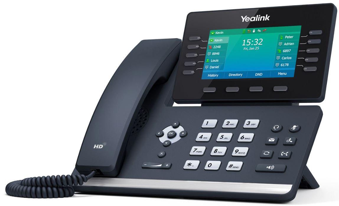 Yealink SIP-T54W - Schwarz - VoIP Tischtelefon - kompatibel mit Starface
